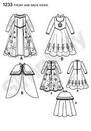 simplicity 1233 disney u0027s frozen costume children