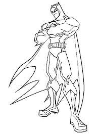 drawings batman coloring pages exterior free