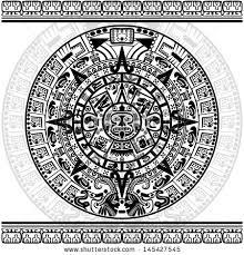 vector mayan calendar on white background stock vector 145427545
