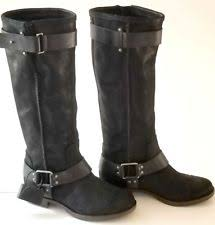 ugg s mammoth boots ugg australia charcoal mammoth knee high suede fringe boots