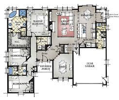Large Ranch Home Floor Plans by Model E Sasser Construction