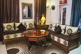 tissu salon marocain moderne salon marocain noir déco dorient créateur de salon marocain val
