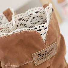 womens boots mid calf brown usa womens autumn winter slouchy mid calf boots lace cuff