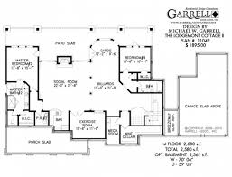 Free House Plans With Basements Contemporary House Plans Single Story Small Ranch Style With Open