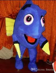 no 1 mascot finding nemo dory mascot costume foam head with mini