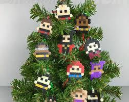 ornaments set of 12 retro theme i