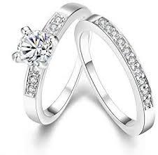 crystal diamond rings images Engagement rings set for women girls cubic zirconia crystal jpg