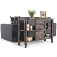 Espresso Console Table Simpli Home Burlington Rich Espresso Storage Console Table 3axcbur
