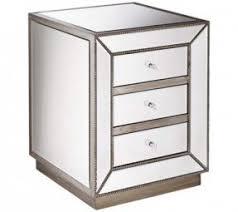 3 drawer mirrored nightstand foter