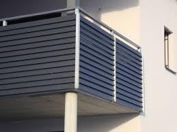 balkon edelstahlgel nder edelstahlgeländer mit aluminiumlamellen in anthrazit