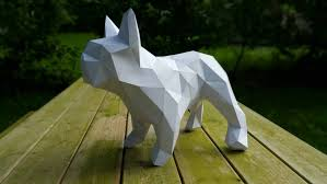 frenchie french bulldog papercraft home decoration paper