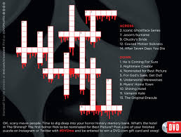 halloween films crossword puzzle netflix dvd blog