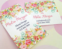 Personalized Business Cards Custom Illustrated Personalized Business Cards Printable Diy
