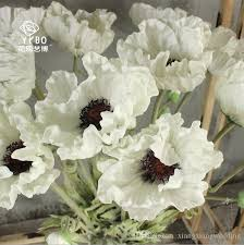 wedding flowers silk wedding flowers silk flower white orang poppy flowers pu