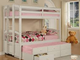 Size Bed  Twin Bunk Beds With Storage Amazing Powell Pure White - Trundle bunk beds