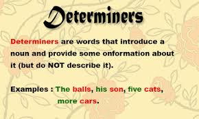 determiners grammar definition types functions u0026 examples