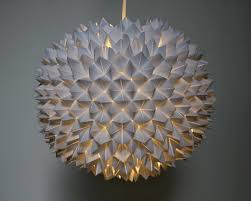 Paper Light Fixtures Faceted Pendant Lights U2013 The Small Sphere The 3 R U0027s Blog