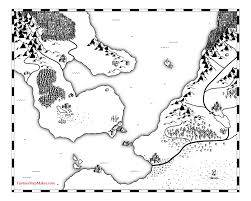 Blank Fantasy Map Generator by Fantasy Map Land Outlines
