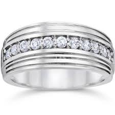 mens diamond engagement rings 1 2 carat mens diamond wedding ring 10k white gold