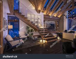 3d rendering cozy living room on stock illustration 503219887 3d rendering of cozy living room on cold winter night in the mountains evening interior