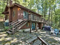wallenpaupack lakefront log home 3 homeaway hawley