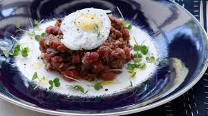 tartare cuisine beef tartare with quail egg recipe food