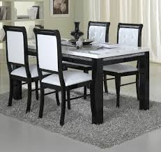 Dining Table Glamorous Round And Chairs Black White Settings - Black and white dining table with chairs