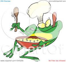royalty free rf clip art illustration of a cartoon frog chef
