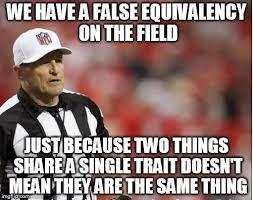 Ed Hochuli Meme - ed hochuli false equivalence imgur