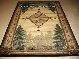 Pine Cone Area Rugs Lodge Log Cabin Pine Pinecone Forest Rustic Green Area Rug Free