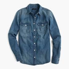 western chambray shirt women u0027s shirts j crew