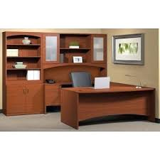 Realspace Office Furniture by Desk U Shaped Desk With Hutch Office Depot Realspace Broadstreet