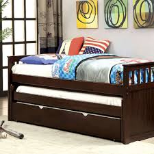 espresso twin bed furniture of america gartel espresso daybed w 3 twin beds cm1610