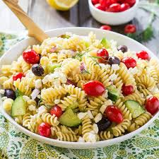 recipes for pasta salad greek pasta salad recipe spicy southern kitchen