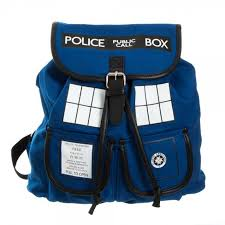 amazon com doctor who tardis knapsack backpack 14 x 17in sports