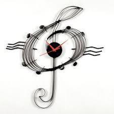 rhythm musical clocks musical clef wall clock