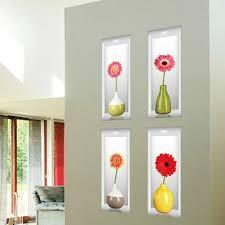 online shop 1 sheet simulation vase 3d wall sticker pvc removable