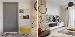 Living Room Bike Rack by Small Re Planned Apartment For A Typical It Specialist Home
