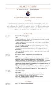 Junior Network Engineer Resume Sample by Planning Engineer Resume Samples Visualcv Resume Samples Database