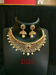 gold plated choker necklace images Gold plated choker necklace at rs 900 piece gold plated choker jpg