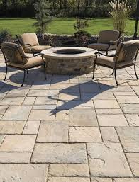 Large Pavers For Patio Patio With Large Pavers And Pit Beautiful Outdoor Spaces