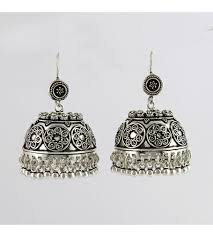 jhumka earrings 925 sterling silver oxidized jhumka earring 10 discount sale
