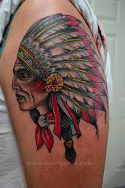 original indian chief tattoo by ross k jones 2013 tattooer at art