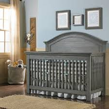 Convertible Crib Plans Lucca Panel Convertible Crib Weathered Grey And Nursery In