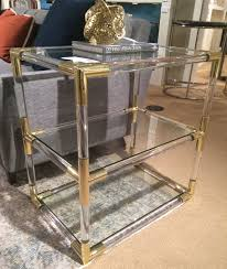 Brass Coffee Table by Getty Acrylic And Brass Side Table Mecox Gardens