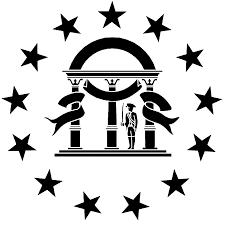 White Flag Gif Georgia State Flag Stencil Sp Stencils