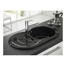 Clearwater Cascade Single Bowl And Drainer White Or Gloss Black - Ceramic kitchen sinks uk