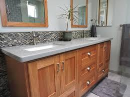 Tile Bathroom Countertop Standing Bali Ocean Pebble Tile Luxury Bathroom Vanity Subway