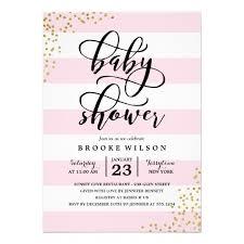 baby shower invitations pink stripe glitter dots baby shower invitation zazzle