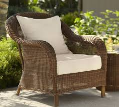 palmetto all weather wicker armchair honey pottery barn
